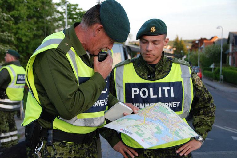 Hjemmeværnet på vej væk fra Skive   Limfjord Update