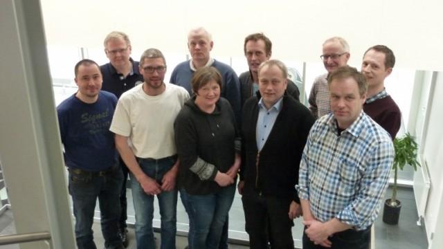 Fra venstre øverst: Søren Nielsen, Bjarne S. Gravesen, Morten Bonnerup, Preben Nielsen, Søren Stigaard Tølbøll, Fra venstre nederst; Jesper Lousdal, Kim Jørgensen, Mette Iversen, næstformand Flemming Nielsen og formand Leif Gravesen.