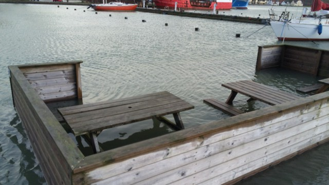 Nyk Lystbydehavn oversvømmelse januar 2015 2