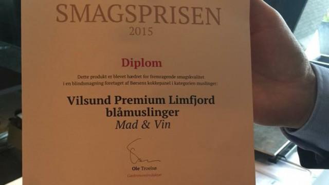 Vilsund Blue smagsprisen 2015